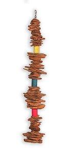 Brinquedo Cordão Casca De Pinus G Para Aves Big Toys