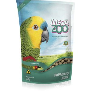 Alimento Extrusado Para Papagaio Megazoo Light 600g