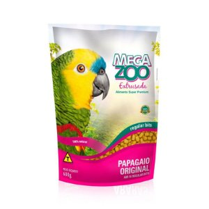 Alimento Extrusado Para Papagaio Megazoo Regular Bits (AM16) 600g