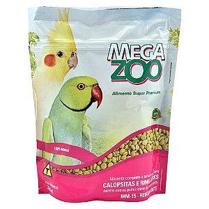 Alimento Extrusado Para Calopsita Megazoo (MM15) Regular Bits 350g