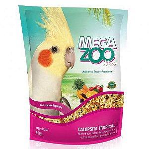Alimento Integral Para Calopsita Megazoo Mix Tropical 500g
