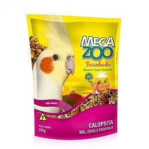 Alimento 100% Natural Para Calopsitas Megazoo Farinhada Mel Ovos  E Própolis 300g