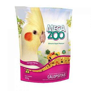 Alimento Extrusado Para Calopsitas Megazoo Com Frutas E Legumes 350g