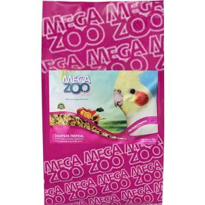 Alimento Integral Para Calopsita Megazoo Mix Tropical - 8kg
