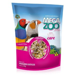 Mix de Sementes Megazoo para Passáros Exóticos - 350g
