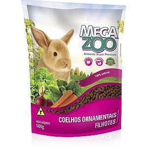 Alimento Extrusado Megazoo Para Coelhos Ornamentais Filhotes 500g