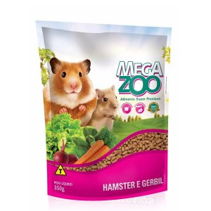 Alimento Extrusado Megazoo Para Hamster E Gerbil 350g