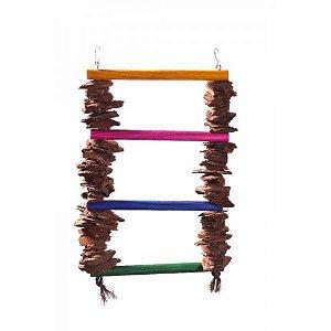 Brinquedo Escada Casca De Pinus Para Aves Still Pet