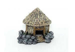 Toca Em Resina Casa De Palha Para Pequenos Anfíbios E Aracnídeos