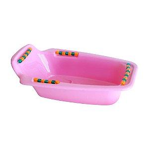 Banheira Para Calopsita Periquito Rosa 1L
