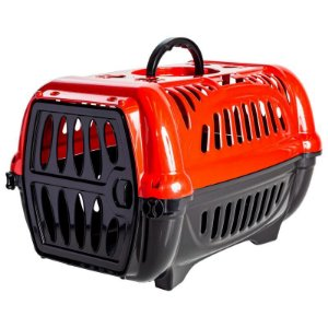Caixa De Transporte N1 Para Animais De Pequeno Porte Jel Plast Vermelho