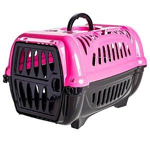 Caixa De Transporte N1 Para Animais De Pequeno Porte Jel Plast Rosa