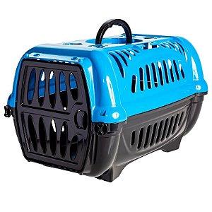 Caixa De Transporte N1 Para Animais De Pequeno Porte Jel Plast Azul