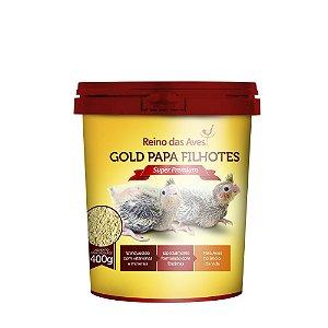 Gold Papa Para Filhotes De Aves 400g