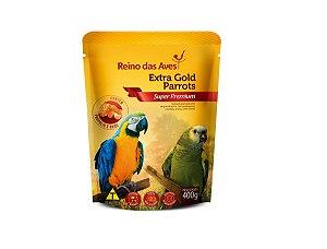 Alimento Arara Papagaio Extra Gold Parrots 400g