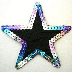 Patch Bordado Termocolante Star