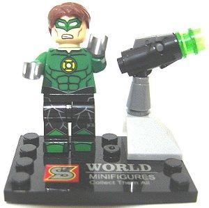 Boneco de Montar Lanterna Verde estilo Lego