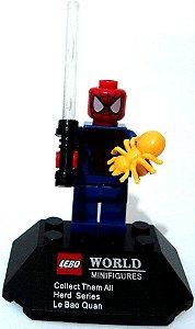 Boneco de Montar Homem Aranha estilo Lego