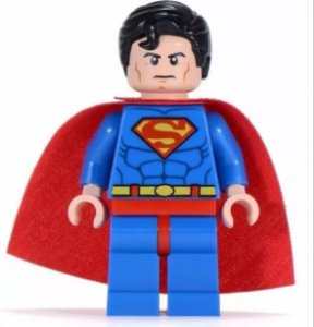 Boneco de Montar Superman estilo Lego