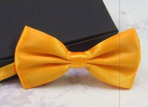 Gravata Borboleta C/ Regulador Amarela Adulto e Infantil