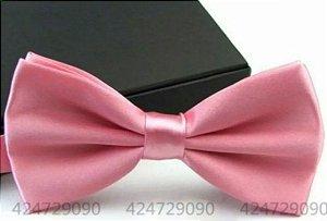 Gravata Borboleta C/ Regulador Rosa Bebê Adulto e Infantil