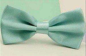 Gravata Borboleta C/ Regulador Azul Tiffany 1 Adulto e Infantil