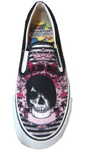 Tênis Mad Bull Slip On Skull Girl Style Mad Rats Madstar