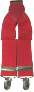 Suspensório Liso  Vermelho Madstar 3,5 cm