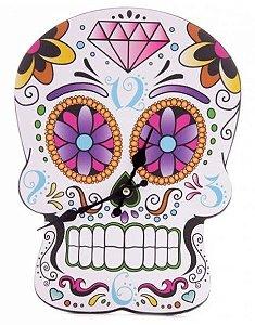 Relógio Caveira Mexicana Madstar de Parede
