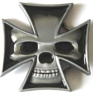 Fivela Avulsa Skull Cruz De Malta