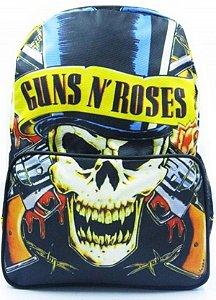 Mochila Madstar Caveira Guns N`Roses Pronta Entrega