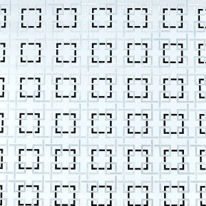Papel de Parede Geométrico Branco com Detalhes em Prateado e preto
