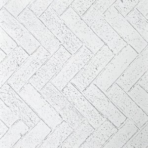 Papel de Parede Tijolos Branco