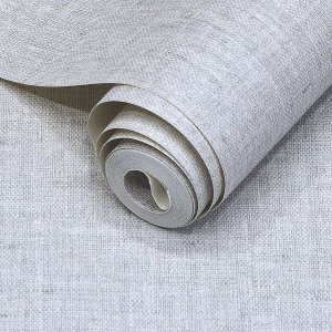 Papel de Parede Textura Linho Cinza Claro