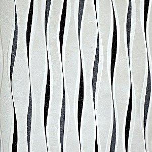Papel de Parede Branco com detalhes cinza e preto