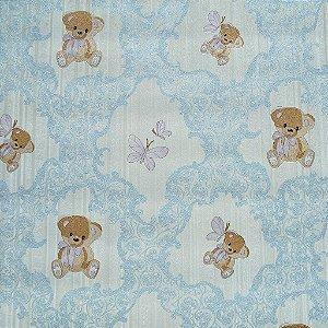 Papel de Parede Infantil / Bebê Ursinhos Azul