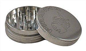Dichavador 63mm Magnético 2 Partes Prata - Piranha