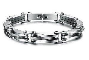 Pulseira Luxo de Aço Inox - PA01-B