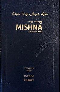 Mishná em hebraico e português - Ordem Nezikim- Tratado Sucá