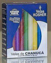 Velas de Chanucá pequenas coloridas - caixa