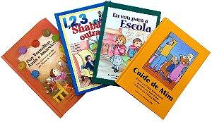 Coleção Infantil 4 vol / Eu Vou para a Escola, 1, 2, 3, Shabat Outra Vez, Fios Vermelhos, Azuis e Amarelos e Cuide de Mim