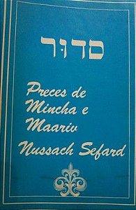 Sidur Preces de Mincha e Maariv Nussach Sefard
