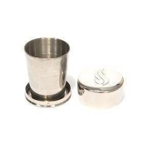 Copo de Kiddush de aço inoxidável para Shabbat Travel Kit
