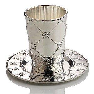 Cálice com pratinho decorado 180ml