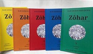 Coleção Zohar Texto Integral - 5 Vols