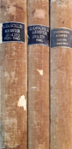 Yiddischer Kemfer 1939, 1940, 1943 e 1944 - 3 volumes.