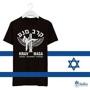 Camiseta com simbolo Krav Magá - tamanho P.
