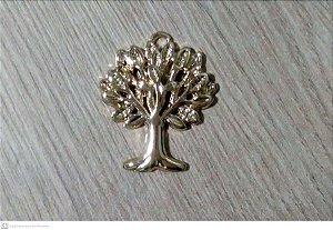 Pingente árvore da vida em zinco dourada sem circulo