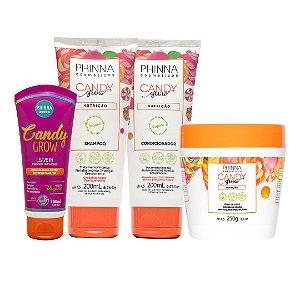 Linha Candy Grow (Shampoo + Condicionador + Máscara + Leave in)