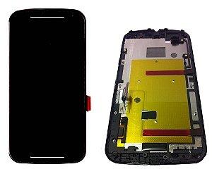 FRONTAL LCD MOTO G2 PRETO